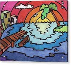 Paradise Acrylic Print by Ashley King