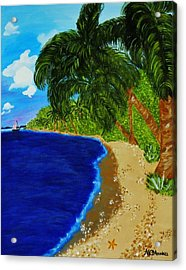 Acrylic Print featuring the painting Paradise by Celeste Manning