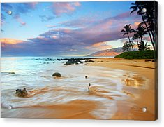 Paradise Dawn Acrylic Print by Mike  Dawson