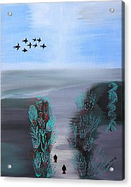 Acrylic Print featuring the painting Paradise by Lorna Maza