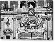 Paradise Movie Theatre Acrylic Print