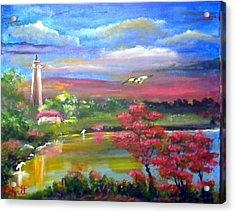 Paradise Nature Acrylic Print by M Bhatt