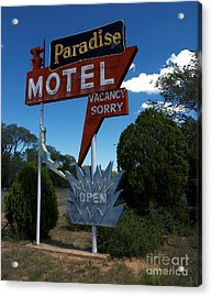 Paradise On Route 66 Acrylic Print by Mel Steinhauer