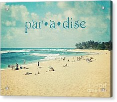Acrylic Print featuring the photograph Paradise by Sylvia Cook