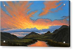 Paradise Valley Sunset  Acrylic Print