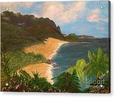 Acrylic Print featuring the painting Paradise by Vanessa Palomino