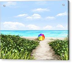 Paradise Acrylic Print by Veronica Minozzi