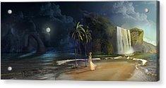 Paradise Acrylic Print by Virginia Palomeque
