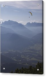 Paraglider's View Acrylic Print