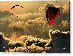 Paragliding 2 Acrylic Print by Yavuz Sariyildiz