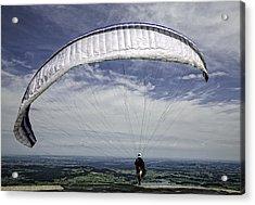 Paragliding  Acrylic Print by Joanna Madloch