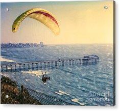 Paragliding Torrey Pines Acrylic Print