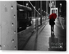 Parallel Speed Acrylic Print by Simona Ghidini