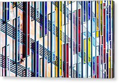 Parallels And Rectangles Acrylic Print by Adam Pender