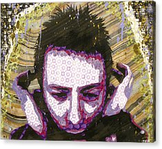Paranoid Android Version Acrylic Print by Bobby Zeik