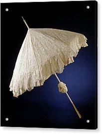 Parasol With Deck Of Needle Lace, Point De Gaze De Bruxelles Acrylic Print by Quint Lox