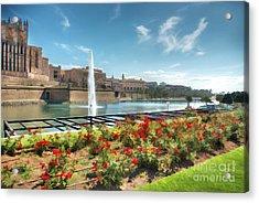 Parc De La Mer Mallorca Spain Acrylic Print by John Edwards