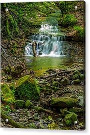 Parfrey's Glen Waterfall Acrylic Print