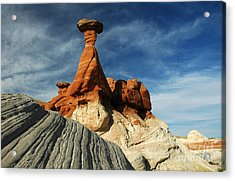 1010a Paria Canyon Rock Formation Acrylic Print