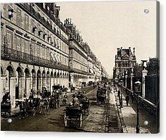 Paris 1900 Rue De Rivoli Acrylic Print