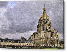 Paris 4 Acrylic Print by Yury Malkov