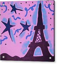 Paris Alive Acrylic Print by Krystyn Lyon