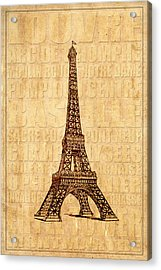 Paris Acrylic Print by Andrew Fare
