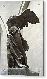 Paris Angel Louvre Museum- Winged Victory Of Samothrace Acrylic Print by Kathy Fornal