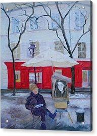 Paris Artist, 2010 Oil On Canvas Acrylic Print