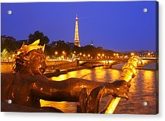 Paris At Night Acrylic Print by Dan Breckwoldt