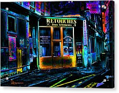 Paris At Night Acrylic Print by EricaMaxine  Price