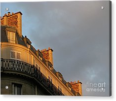 Acrylic Print featuring the photograph Paris At Sunset by Ann Horn
