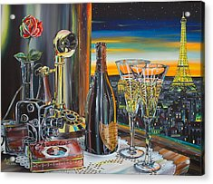 Paris At Sunset Acrylic Print by Anthony Mezza