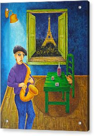 Paris Blues Acrylic Print by Pamela Allegretto