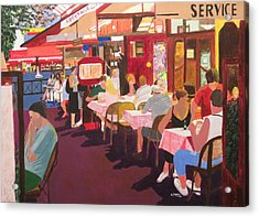 Paris Cafe At Dusk Acrylic Print