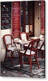 Paris Cafe Acrylic Print by John Rizzuto