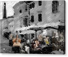Acrylic Print featuring the digital art Paris Cafe by Kelly McManus
