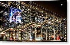 Paris Centre Pompidou Acrylic Print by Tomas Horvat
