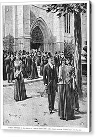 Paris Church, 1890 Acrylic Print by Granger