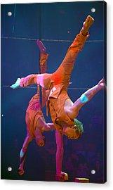 Paris Circus Acrobats Acrylic Print