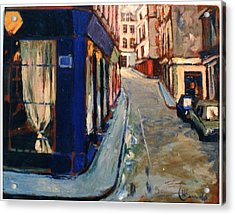 Acrylic Print featuring the painting Paris Cityscape by Walter Casaravilla
