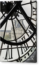 Paris Clock Acrylic Print