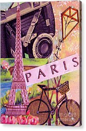 Acrylic Print featuring the drawing Paris  by Eloise Schneider