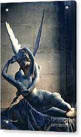 Paris Eros And Psyche Romantic Lovers - Paris In Love Eros And Psyche Louvre Sculpture  Acrylic Print