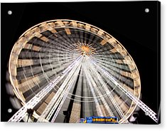 Paris Ferris Wheel Acrylic Print by Matthew Bamberg