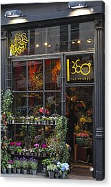 Paris Flower Shop Acrylic Print by Glenn DiPaola