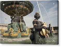 Paris Fountains  Acrylic Print by Rob Hawkins