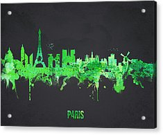 Paris France Acrylic Print by Aged Pixel