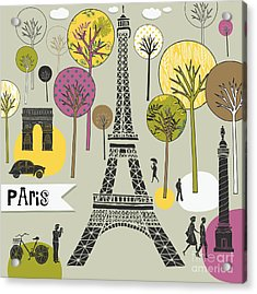Paris France Art Print Acrylic Print by Lavandaart