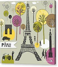 Paris France Art Print Acrylic Print